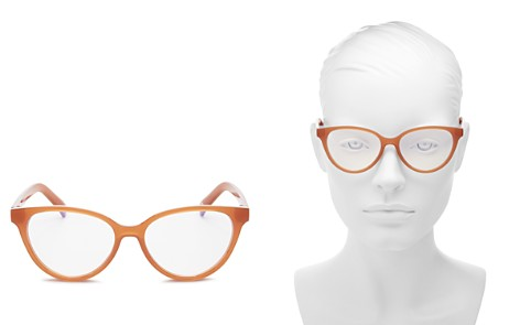 The Book Club Women's The Art of Snore Cat Eye Blue Light Filter Glasses, 53 mm - Bloomingdale's_2