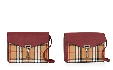 Burberry Macken Mini Vintage Check & Leather Crossbody - Bloomingdale's_2