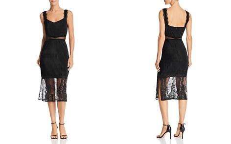 FRENCH CONNECTION Sarelle Ottoman Velvet & Lace-Detail Dress - Bloomingdale's_2
