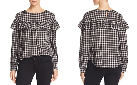 La Vie Rebecca Taylor Ruffle-Trimmed Plaid Top - Bloomingdale's_2