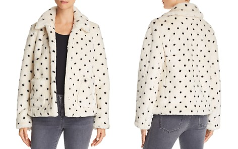 La Vie Rebecca Taylor Dot-Print Faux-Fur Coat - Bloomingdale's_2