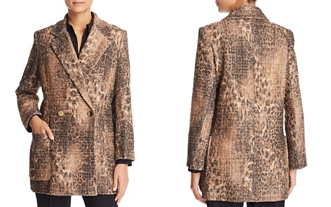 Badgley Mischka Leopard Tweed Jacket - Bloomingdale's_2