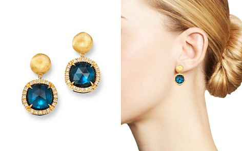 Marco Bicego 18K Yellow Gold Jaipur Color London Blue Topaz & Diamond Small Drop Earrings - Bloomingdale's_2