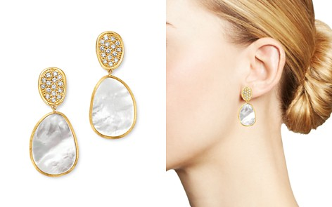 Marco Bicego 18K Yellow Gold Lunaria Pavé Diamond & Mother of Pearl Small Drop Earrings - Bloomingdale's_2
