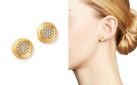 Marco Bicego 18K Yellow Gold Jaipur Diamond Stud Earrings - Bloomingdale's_2