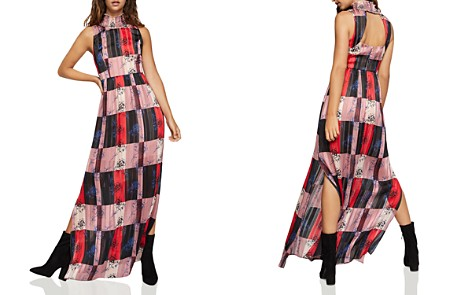 BCBGeneration Check Floral Maxi Dress - Bloomingdale's_2