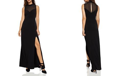 BCBGeneration Chiffon-Inset Slit Maxi Dress - Bloomingdale's_2