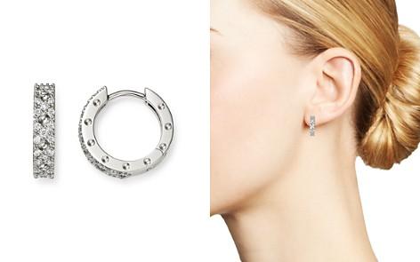 Roberto Coin 18K White Gold Symphony Pois Moi Diamond Small Hoop Earrings - Bloomingdale's_2