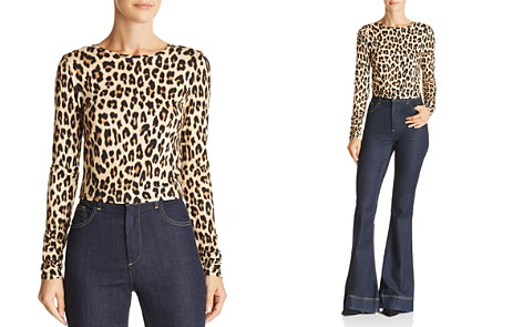 Alice + Olivia Delaina Leopard Print Cropped Top - Bloomingdale's_2