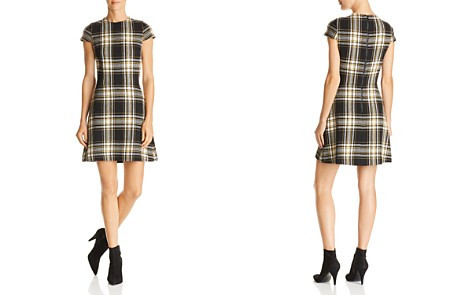 Alice + Olivia Malin Plaid A-Line Dress - Bloomingdale's_2