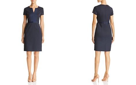 BOSS Deriba Short-Sleeve Mini-Check Dress - Bloomingdale's_2