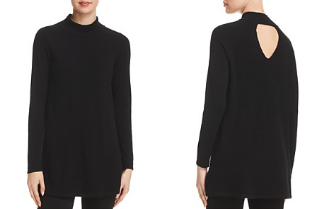 Eileen Fisher Cashmere Mock-Neck Tunic Sweater - 100% Exclusive - Bloomingdale's_2