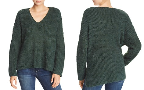 Sadie & Sage Chunky Ribbed Knit V-Neck Sweater - Bloomingdale's_2