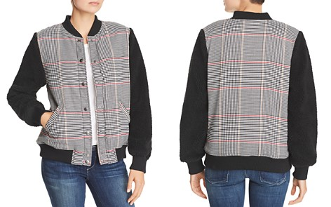 The Fifth Label Portray Houndstooth & Teddy Bear Checked Bomber - Bloomingdale's_2