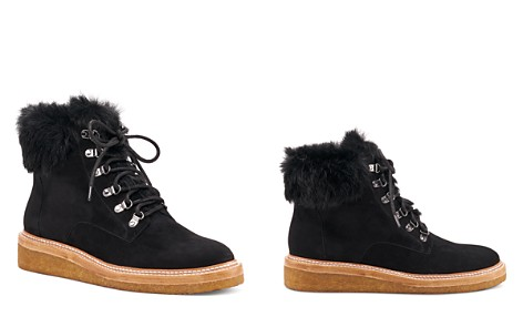 Botkier Women's Winter Leather & Fur Lace Up Booties - Bloomingdale's_2