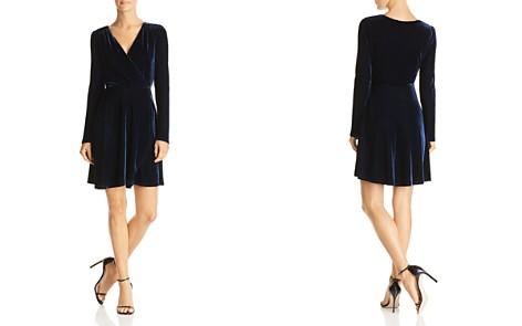 AQUA Velvet Faux-Wrap Dress - Bloomingdale's_2