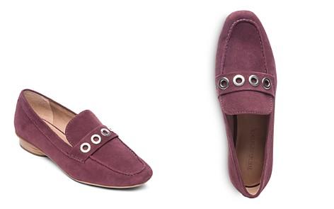 Bernardo Women's Jaden Round Toe Grommet Suede Loafers - Bloomingdale's_2
