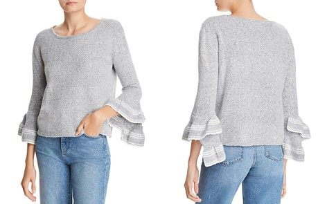 AQUA Asymmetric Bell-Sleeve Sweater - 100% Exclusive - Bloomingdale's_2