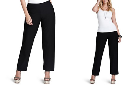 Eileen Fisher Plus System Stretch-Crepe Straight Pants - Bloomingdale's_2