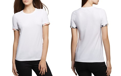 Burberry Check Cuff Tee - Bloomingdale's_2