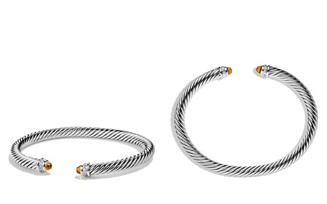 David Yurman Cable Classics Bracelet with Citrine and Diamonds - Bloomingdale's_2