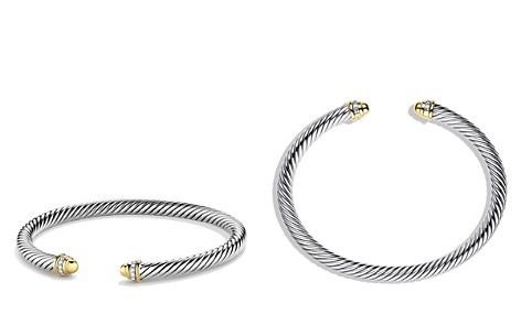 David Yurman Cable Classics Bracelet with Gold Domes & Diamonds - Bloomingdale's_2