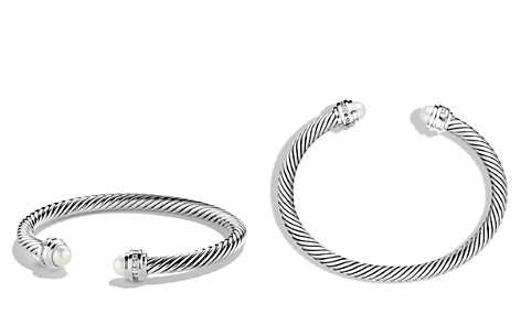 David Yurman Cable Classics Bracelet with Pearl & Diamonds - Bloomingdale's_2