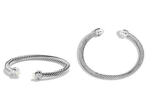 David Yurman Cable Classics Bracelet with Pearl & Diamonds - Bloomingdale's_2
