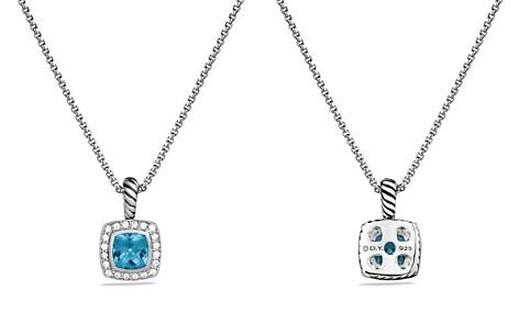 David Yurman Petite Albion Pendant with Blue Topaz and Diamonds on Chain - Bloomingdale's_2