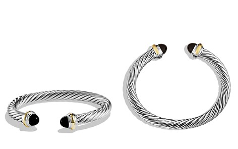 David Yurman Cable Classics Bracelet with Black Onyx & Gold - Bloomingdale's_2