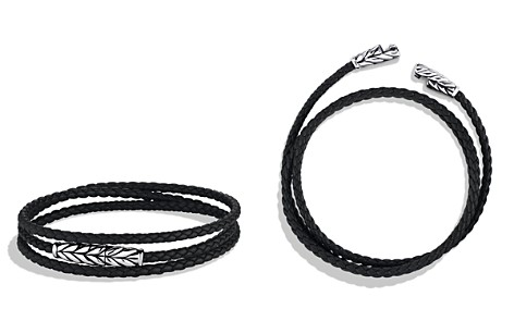 David Yurman Chevron Triple-Wrap Bracelet in Black - Bloomingdale's_2