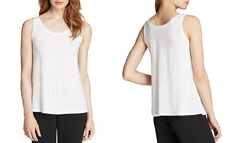 Eileen Fisher System Scoop Neck Long Tank - Bloomingdale's_2