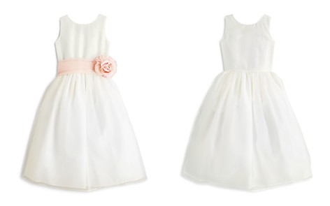 US Angels Girls' Mix & Match Organza Dress, Sash & Rosebud - Little Kid - Bloomingdale's_2