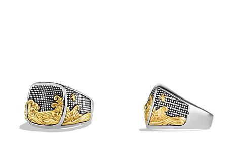 David Yurman Waves Signet Ring with Gold - Bloomingdale's_2