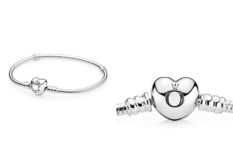 PANDORA Moments Collection Sterling Silver Heart Clasp Bracelet - Bloomingdale's_2