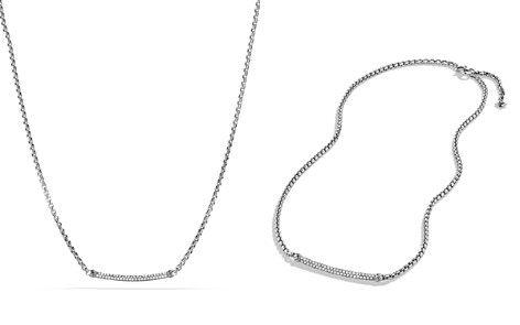 David Yurman Petite Pavé Metro Chain Necklace with Diamonds - Bloomingdale's_2