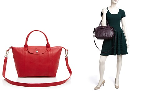 Longchamp Le Pliage Small Leather Satchel - Bloomingdale's_2