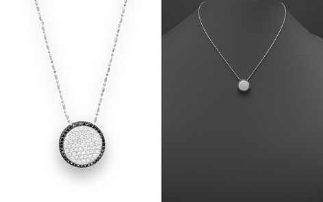 """Black and White Diamond Pendant Necklace in 14K White Gold, 17"""" - Bloomingdale's_2"""