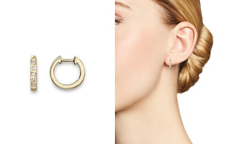 KC Designs Diamond Mini Hoops in 14K Yellow Gold - Bloomingdale's_2