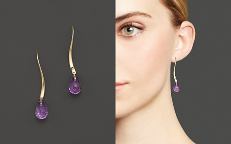14K Yellow Gold and Amethyst Twist Drop Earrings - 100% Exclusive - Bloomingdale's_2