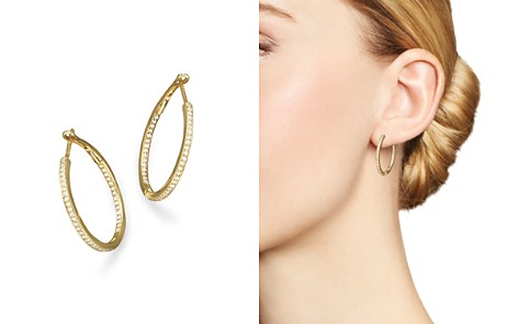 Diamond Inside-Out Hoop Earrings in 14K Yellow Gold, .30 ct. t.w. - 100% Exclusive - Bloomingdale's_2
