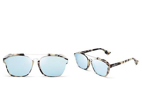 Dior Abstract Square Mirrored Sunglasses, 58mm - Bloomingdale's_2