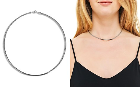 """John Hardy Sterling Silver Classic Chain Lava Station Mini Chain Necklace with Black Sapphire, 18"""" - Bloomingdale's_2"""