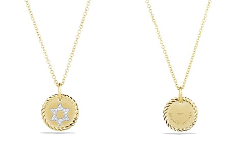 David Yurman Cable Collectibles Star of David Necklace with Diamonds in 18K Gold - Bloomingdale's_2