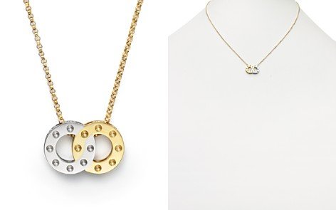 "Roberto Coin 18K Yellow and White Gold Pois Moi Pendant Necklace, 16"" - Bloomingdale's_2"