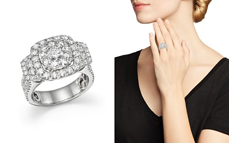 Diamond Cluster Statement Ring in 14K White Gold, 3.0 ct. t.w. - 100% Exclusive - Bloomingdale's_2