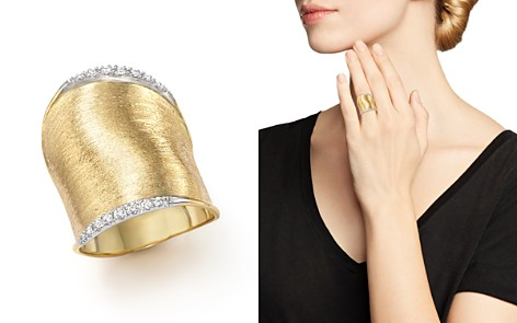 Marco Bicego Diamond Lunaria Large Ring in 18K Yellow Gold - Bloomingdale's_2