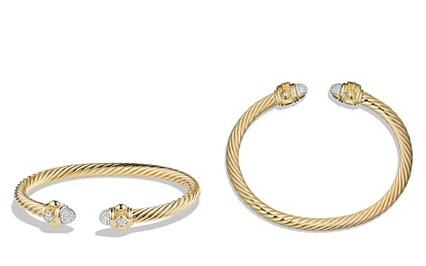 David Yurman Renaissance Bracelet with Diamonds in 18K Gold - Bloomingdale's_2