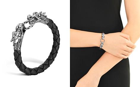 "John Hardy ""Naga"" Black Woven Leather Dragon Bracelet - Bloomingdale's_2"