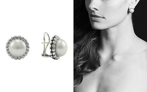 Lagos Sterling Silver Fluted Freshwater Pearl Earrings Bloomingdale S 2